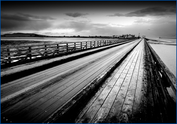 Photo of the Wooden Bridge at Bull Island in Dublin 2016.